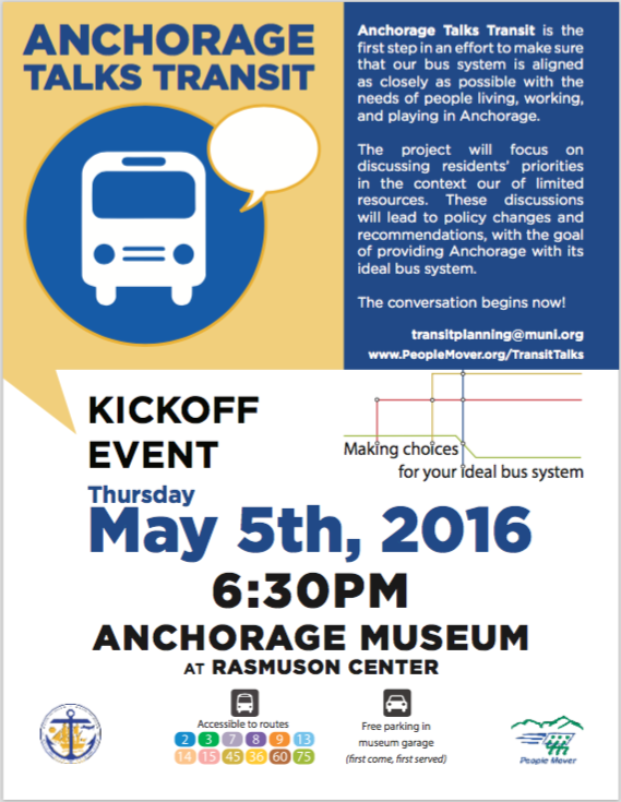 Anchorage Talks Transit flyer
