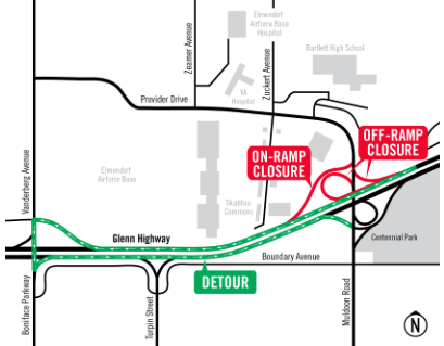Ramp closures July 8-11